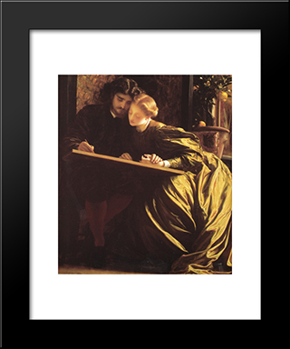 The Painter'S Honeymoon: Modern Custom Black Framed Art Print by Frederic Leighton