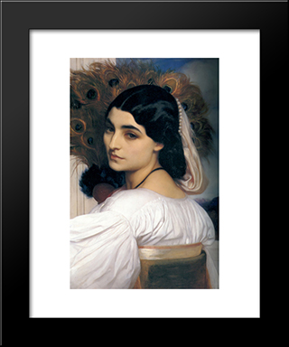 Pavonia: Modern Custom Black Framed Art Print by Frederic Leighton