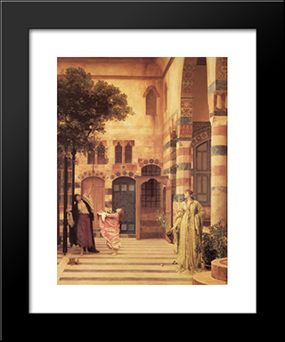 Old Damascus: Jew'S Quarter: Modern Custom Black Framed Art Print by Frederic Leighton