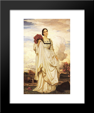 The Countess Brownlow: Modern Custom Black Framed Art Print by Frederic Leighton