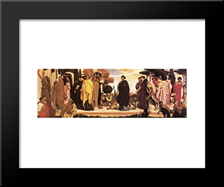 The Syracusan Bride: Modern Custom Black Framed Art Print by Frederic Leighton