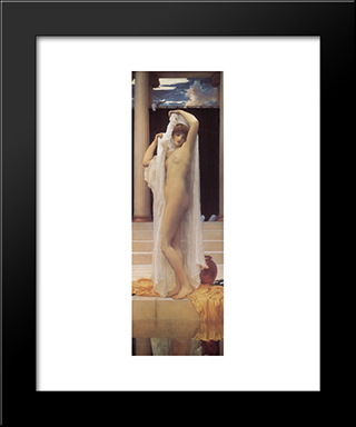 The Bath Of Psyche: Modern Custom Black Framed Art Print by Frederic Leighton