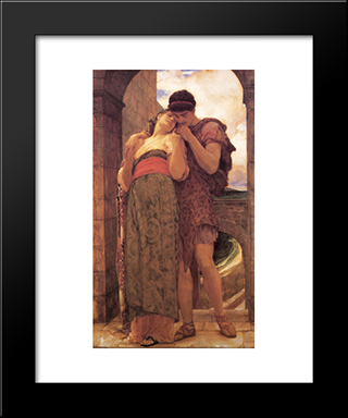 Wedded: Modern Custom Black Framed Art Print by Frederic Leighton