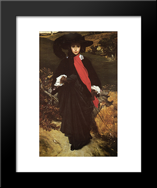 May Sartoris: Modern Custom Black Framed Art Print by Frederic Leighton