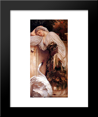 Odalisque: Modern Custom Black Framed Art Print by Frederic Leighton