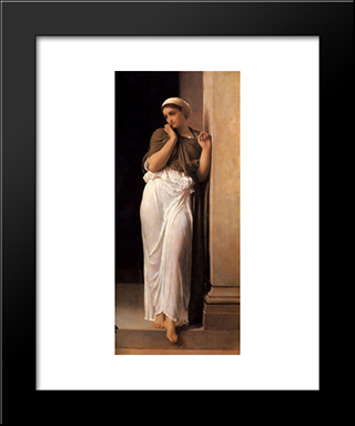 Nausicaa: Modern Custom Black Framed Art Print by Frederic Leighton