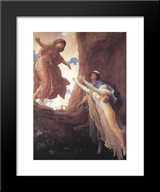 Return Of Persephone: Modern Custom Black Framed Art Print by Frederic Leighton