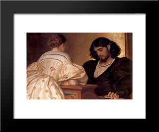 The Golden Hours: Modern Custom Black Framed Art Print by Frederic Leighton