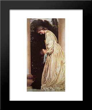 Sisters: Modern Custom Black Framed Art Print by Frederic Leighton