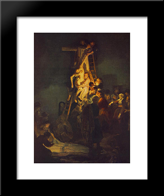 Descent From The Cross: Modern Custom Black Framed Art Print by Rembrandt