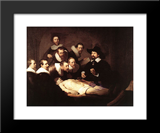 The Anatomy Lecture Of Dr. Nicolaes Tulp: Modern Custom Black Framed Art Print by Rembrandt