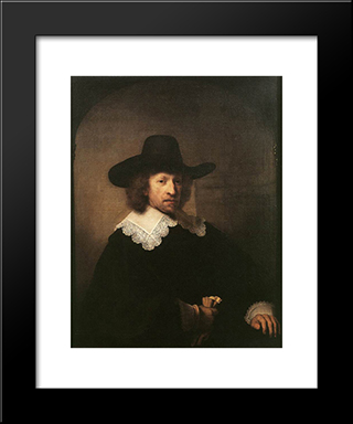Portrait Of Nicolaas Van Bambeeck: Modern Custom Black Framed Art Print by Rembrandt