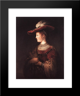Saskia In Pompous Dress: Modern Custom Black Framed Art Print by Rembrandt