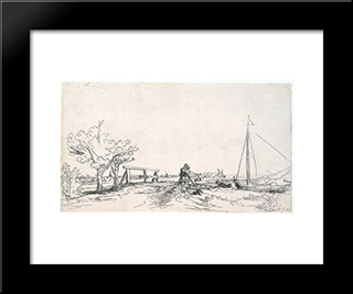 Six'S Bridge: Modern Custom Black Framed Art Print by Rembrandt