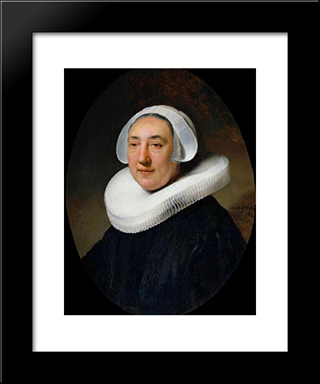 Portrait Of Haesje Van Cleyburgh: Modern Custom Black Framed Art Print by Rembrandt
