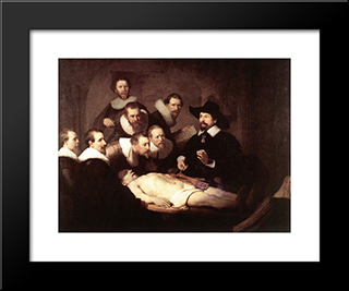 The Anatomy Lecture Of Dr Tulp: Modern Custom Black Framed Art Print by Rembrandt