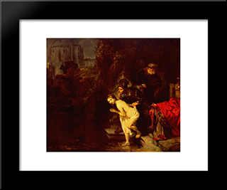 Susanna In The Bath: Modern Custom Black Framed Art Print by Rembrandt