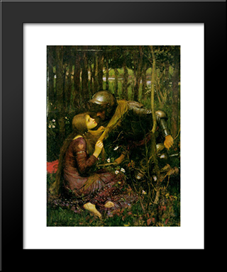 The Beautiful Woman Without Mercy: Modern Custom Black Framed Art Print by John William Waterhouse
