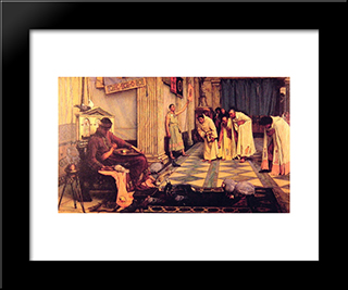 The Favourites Of The Emperor Honorious: Modern Custom Black Framed Art Print by John William Waterhouse