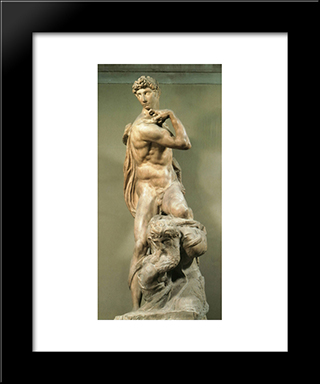 Victory: Modern Custom Black Framed Art Print by Michelangelo