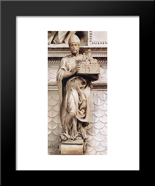 St Petronius: Modern Custom Black Framed Art Print by Michelangelo