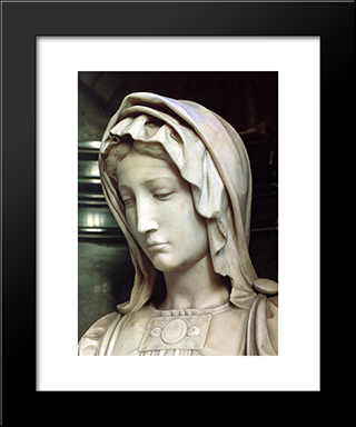 Madonna And Child [Detail: 1]: Modern Custom Black Framed Art Print by Michelangelo