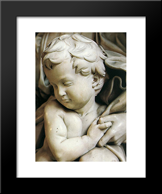 Madonna And Child [Detail: 2]: Modern Custom Black Framed Art Print by Michelangelo