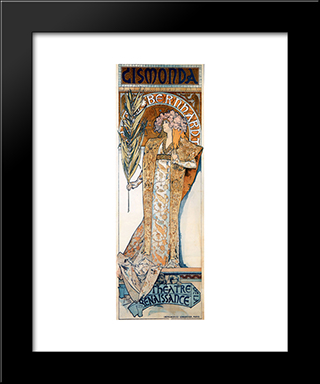 Gismonda: Modern Custom Black Framed Art Print by Alphonse Mucha