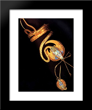 Bracelet: Modern Custom Black Framed Art Print by Alphonse Mucha