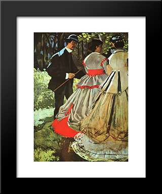 The Picnic: Modern Custom Black Framed Art Print by Claude Monet