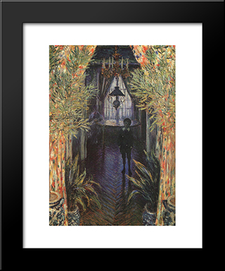 A Corner Of The Apartment: Modern Custom Black Framed Art Print by Claude Monet