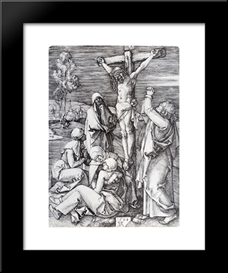 Crucifixion: Modern Custom Black Framed Art Print by Albrecht Durer