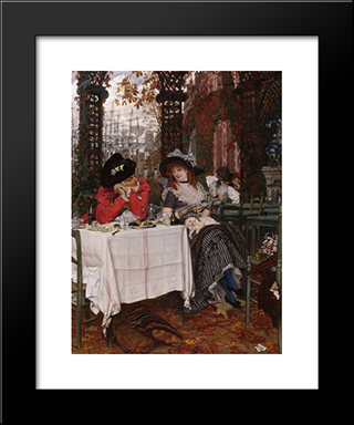 Un Dejeuner: Modern Custom Black Framed Art Print by James Tissot