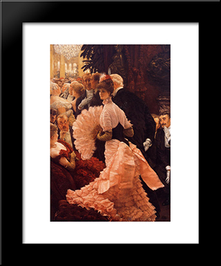 A Woman Of Ambition: Modern Custom Black Framed Art Print by James Tissot