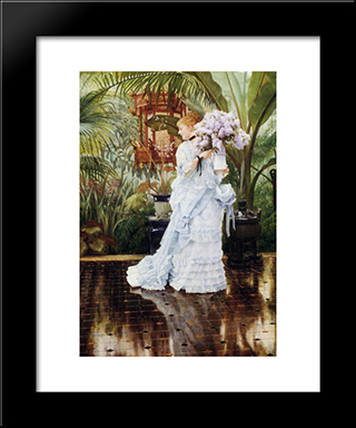 The Bunch Of Violets: Modern Custom Black Framed Art Print by James Tissot