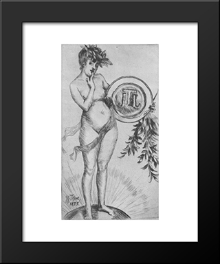 First Frontispiece (With The Monogram): Modern Custom Black Framed Art Print by James Tissot