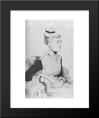 Portrait De M. B ...: Modern Custom Black Framed Art Print by James Tissot