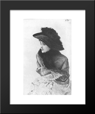 Portrait De M. N ...: Modern Custom Black Framed Art Print by James Tissot