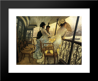 The Gallery Of H.M.S. 'Calcutta' (Portsmouth): Modern Custom Black Framed Art Print by James Tissot