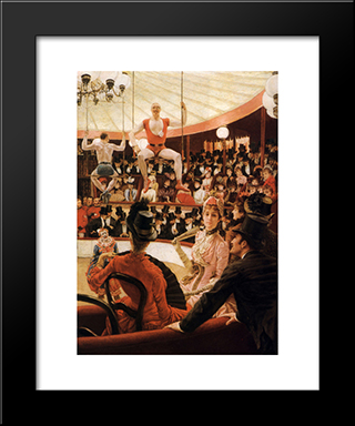 Women Of Paris: The Circus Lover: Modern Custom Black Framed Art Print by James Tissot