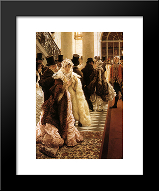 The Woman Of Fashion: Modern Custom Black Framed Art Print by James Tissot