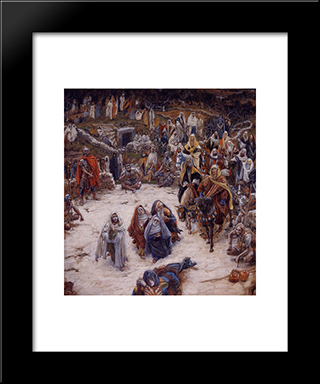 What Our Saviour Saw From The Cross: Modern Custom Black Framed Art Print by James Tissot