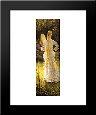 July: Modern Custom Black Framed Art Print by James Tissot