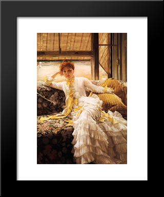 Spring: Modern Custom Black Framed Art Print by James Tissot