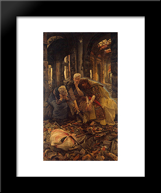 Inner Voices: Modern Custom Black Framed Art Print by James Tissot