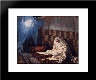 The Annunciation: Modern Custom Black Framed Art Print by James Tissot