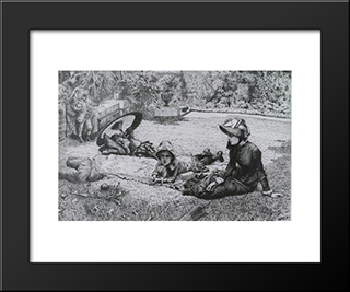 The Lover'S Quarrel': Modern Custom Black Framed Art Print by James Tissot