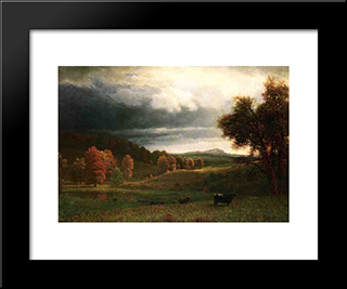 Autumn Landscape: The Catskills: Modern Custom Black Framed Art Print by Albert Bierstadt