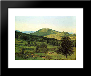 Hill And Dale: Modern Custom Black Framed Art Print by Albert Bierstadt