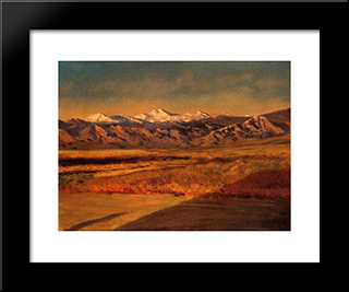 The Grand Tetons: Modern Custom Black Framed Art Print by Albert Bierstadt